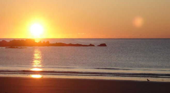 sunrise over the Atlantic, Beach Meadows park, Nova Scotia, 2008