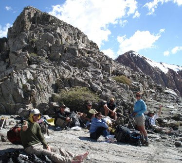 some of my fellow hikers at one of the passes in the Sierras, PCT 2009