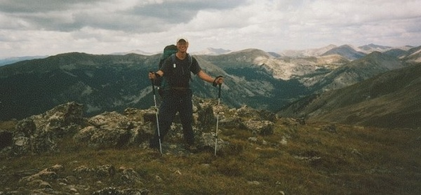 alex on the continental divide near Monarch Pass, 2006