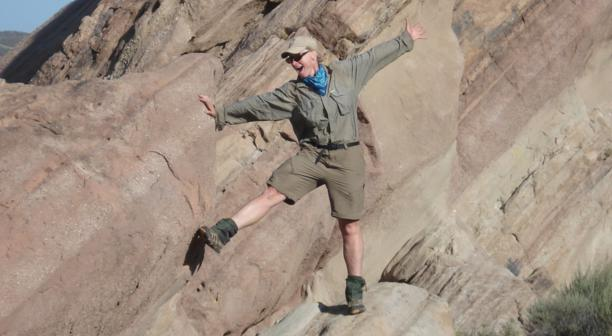 alex at Vasquez Rocks, PCT 2009